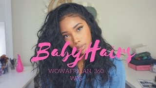 Creating Realistic Hairline & Baby Hairs: WowAfrican 360 Wig