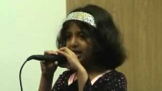 getlinkyoutube.com-Shreya Halur's first singing performance!!