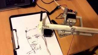 getlinkyoutube.com-Robot drawing portrait. Arduino&processing&opencv