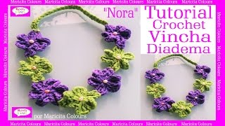 "getlinkyoutube.com-Vincha ""NORA"" Diadema a Crochet Tutorial Gratis por Maricita Colours"