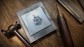 getlinkyoutube.com-Hammer & Chisel Engraving by Sam Alfano