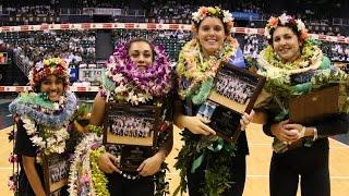 getlinkyoutube.com-Rainbow Wahine Volleyball 2016 - #14 Hawaii Vs UCSB (including Senior Night ceremony)