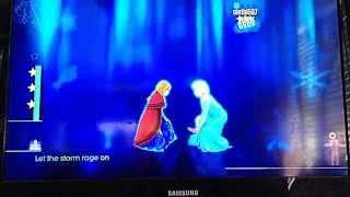 getlinkyoutube.com-Just Dance 2015 Disney's Frozen - Let it go Wii U Gameplay