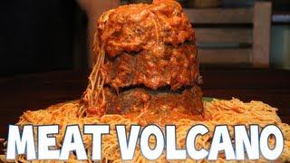 getlinkyoutube.com-Spaghetti Meat Volcano (300th Video) | Furious Pete
