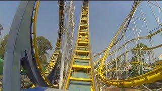 getlinkyoutube.com-Montana Infinitum Roller Coaster POV La Feria Chapultepec Mexico City