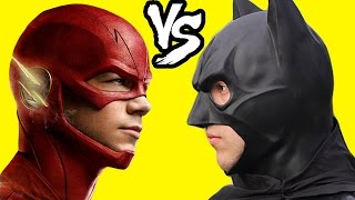 getlinkyoutube.com-Flash vs Batman Superhero Fun Movie In Real Life Parody Superman Dawn Of Justice Kids Toys Juguetes
