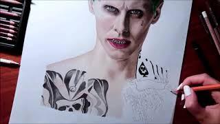 getlinkyoutube.com-Speed Drawing: The Joker - Jared Leto in Suicide Squad | Jasmina Susak