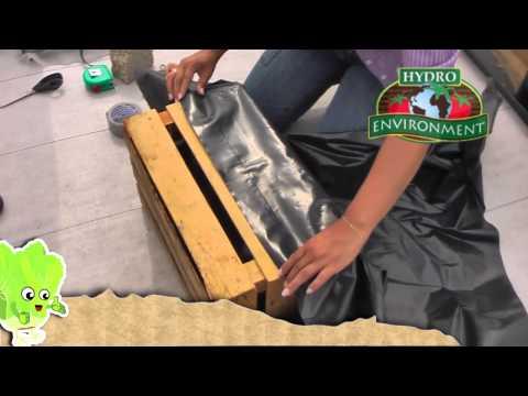 ¿Cómo hacer un contenedor hidropónico utilizando un huacal?