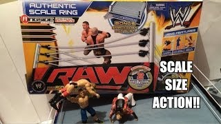 getlinkyoutube.com-WWE ACTION INSIDER: Authentic Scale Ring for Mattel Wrestling Figures by Wicked Cool Toys Review!