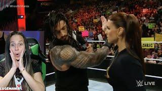 WWE Raw 3/21/16 Roman Reigns Sshh Stephanie McMahon