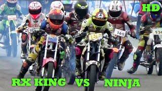 getlinkyoutube.com-DUEL RX KING VS NINJA Road Race Karawang Seri 3 Class Sport 150cc STD OPEN