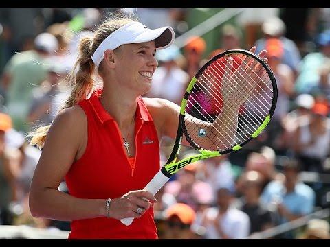 2017 Miami Open Semifinals   Caroline Wozniacki vs Karolina Pliskova   WTA Highlights
