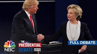 getlinkyoutube.com-The Second Presidential Debate: Hillary Clinton And Donald Trump (Full Debate) | NBC News