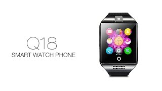 getlinkyoutube.com-Q18 Smart Watch Phone Curve Screen NFC Compass 1.3MP Camera Pedometer Sleep Monitor