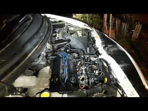 Работа мотора L3 на Mazda MPV после замены подушек двигателя