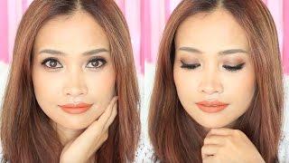 getlinkyoutube.com-Easy Warm Fall Makeup แต่งหน้าพร้อมบอก วิธีติดขนตาปลอม [Eng Sub]