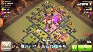 getlinkyoutube.com-3 clan war 3 stars in th11 with super queen