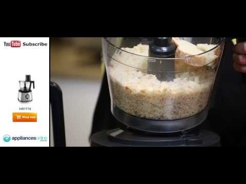 How to slice carrots, cucumbers and make home-made bread crumbs using the HR7778 - Appliances Online