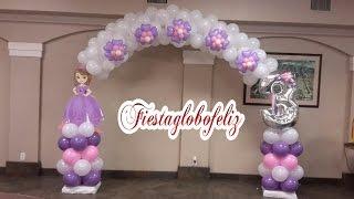 getlinkyoutube.com-Como hacer un arco de la princesa sofia con globos