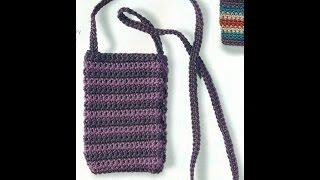 getlinkyoutube.com-Como Tejer Bolsa y Funda Para Celular a Crochet