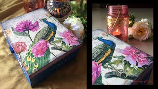 getlinkyoutube.com-Napkin Decoupage on MDF jewellery box