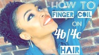 getlinkyoutube.com-Natural hair:  finger coils on short 4b/4c hair