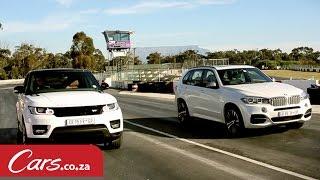 getlinkyoutube.com-Drag race: BMW X5 M50d versus Range Rover Sport Supercharged V8