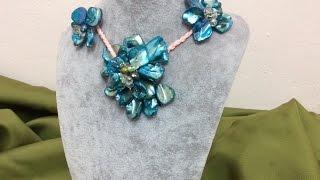 getlinkyoutube.com-Como hacer collar con piedras artificial - How to make artificial stone necklace