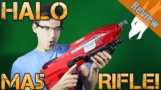 getlinkyoutube.com-New Blaster Review! | Boomco Halo MA5 Rifle Review | Performance and Chrono | Cosplay Prop?