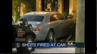 getlinkyoutube.com-Live footage of Rick Ross car getting shoot at by GD's with a ak 47 in ft lauderdale last night