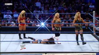 getlinkyoutube.com-Friday Night SmackDown - AJ & Kaitlyn vs. Beth Phoenix & Natalya