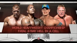 WWE 2K16-The Rock vs Brock Leasnar vs Triple H vs John Cena Hell In A Cell Match, WWE World Champion