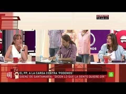 Rifirrafe entre Tania Sánchez y Pilar Gómez en Al Rojo Vivo