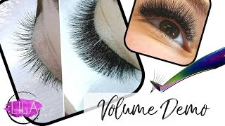 How to apply Russian Volume Eyelash Extensions
