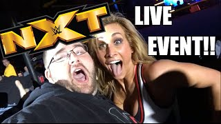getlinkyoutube.com-EPIC NXT REACTIONS LIVE EVENT VLOG! Meeting Superstars Ringside with Hilarious Interactions!