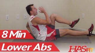 getlinkyoutube.com-8 Minutes Lower Ab Workout - HASfit's Lower Abdominal Exercises - Work Out Lower Abs