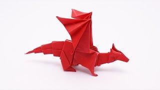 getlinkyoutube.com-ORIGAMI DRAGON v2 (Jo Nakashima) - Dragon #9