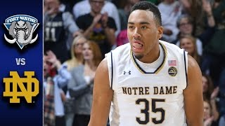 getlinkyoutube.com-Notre Dame vs. Fort Wayne Men's Basketball Highlights (2016-17)