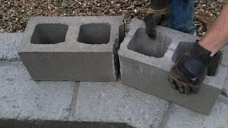 getlinkyoutube.com-Geodesic Dome Greenhouse - Part 6 - Concrete Block Walls