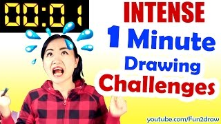 getlinkyoutube.com-Art, Drawing, Challenge - 1 MINUTE to Beat REAL TIME