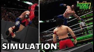 WWE 2K18 SIMULATION: AJ STYLES VS SHINSUKE NAKAMURA | MONEY IN THE BANK 2018 HIGHLIGHTS