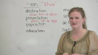 Words ending with ION, English Pronunciation Video Lesson, engvid