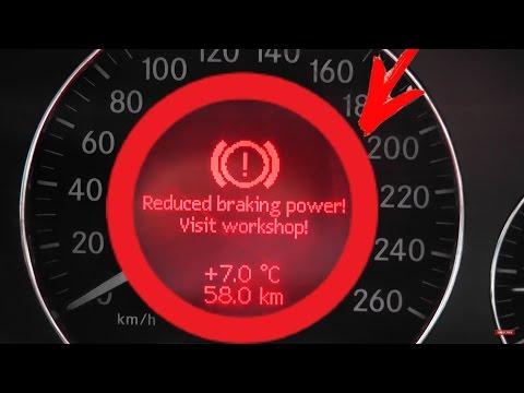 Error Reduced braking power! Start engine!/Mercedes W211, W219 Service brake visit workshop