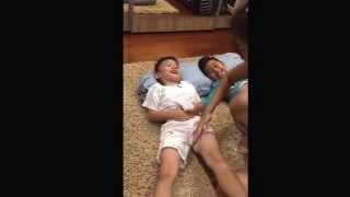 Boy enjoy his worse massage              Aug 28, 2014