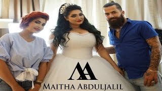 getlinkyoutube.com-مكياج و تسريحة عروس حقيقية ..... real bride hair and makeup with Maitha Abduljalil & Jad Baydoun