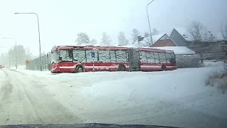 getlinkyoutube.com-Snow day 2016-11-09 chaos in Stockholm