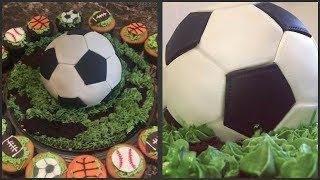 getlinkyoutube.com-Soccer Ball Cake
