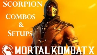 getlinkyoutube.com-MKX - Scorpion Combos & Setups (40%-92%)