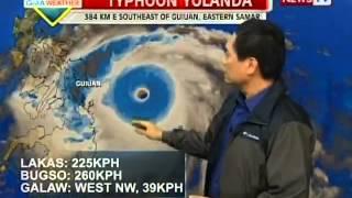 getlinkyoutube.com-PAGASA: Bagyong Yolanda, pinakamalakas na bagyo sa buong mundo ngayong 2013