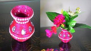 getlinkyoutube.com-How to make newspaper flower vase | DIY newspaper crafts